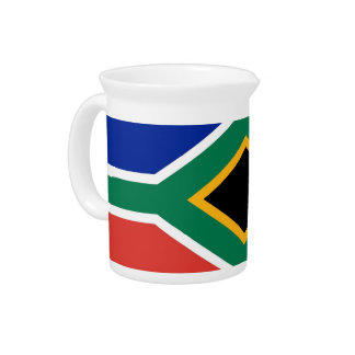 South South African Flag Pitcher