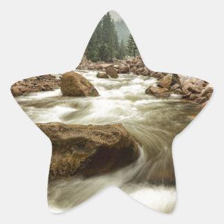 South St Vrain Canyon Portrait Boulder County CO Star Sticker