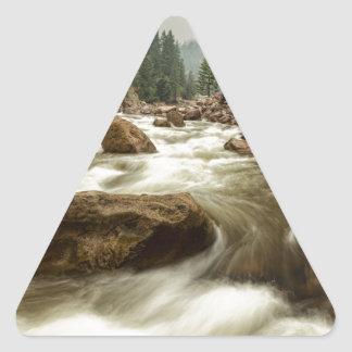 South St Vrain Canyon Portrait Boulder County CO Triangle Sticker
