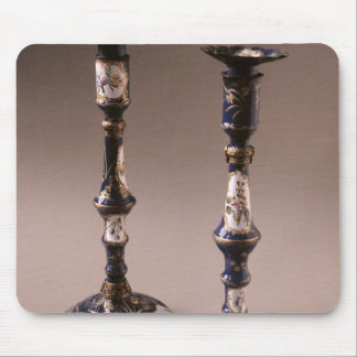 South Staffordshire pair of candlesticks, c.1765 Mouse Pad