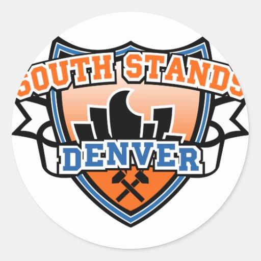 South Stands Denver Fancast Round Sticker