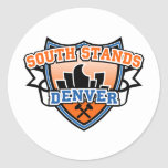 South Stands Denver Fancast Round Stickers