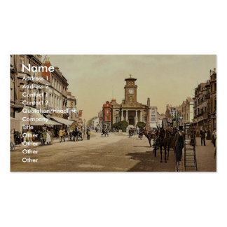 South Street, Worthing, England rare Photochrom Business Card Templates