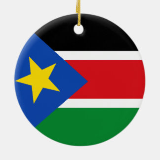 South Sudan Ceramic Ornament