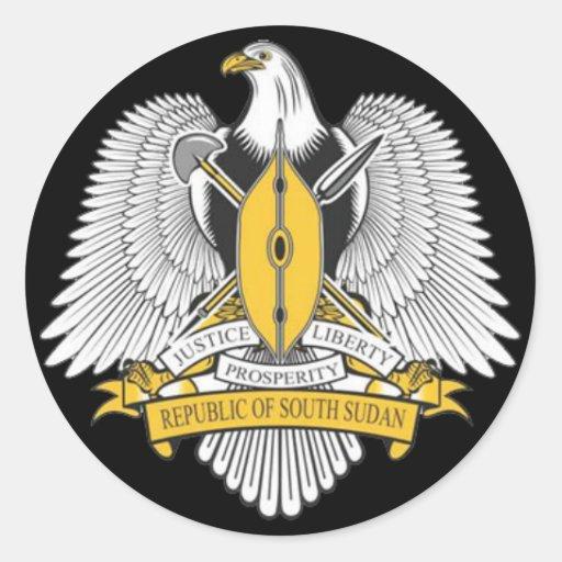 south sudan coat arms sticker