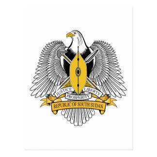 South Sudan Coat of Arms Postcard