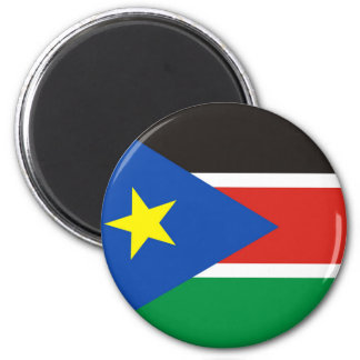 south sudan country long flag nation symbol 2 inch round magnet