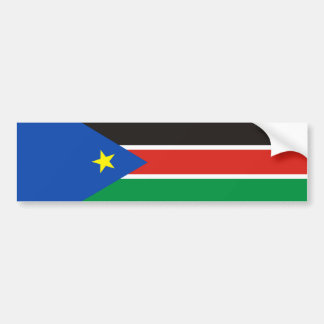 south sudan country long flag nation symbol bumper sticker