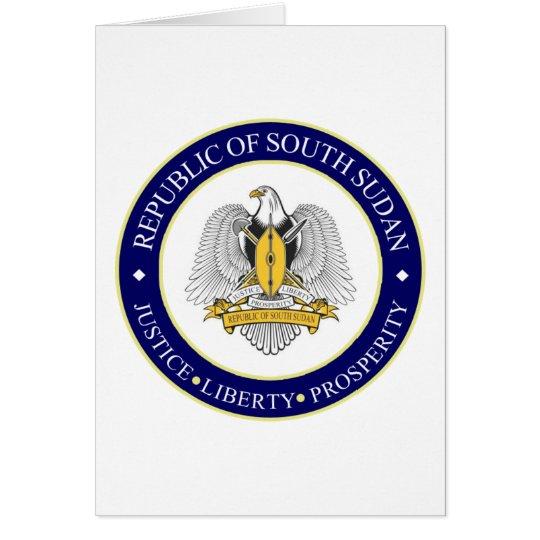 south sudan emblem card