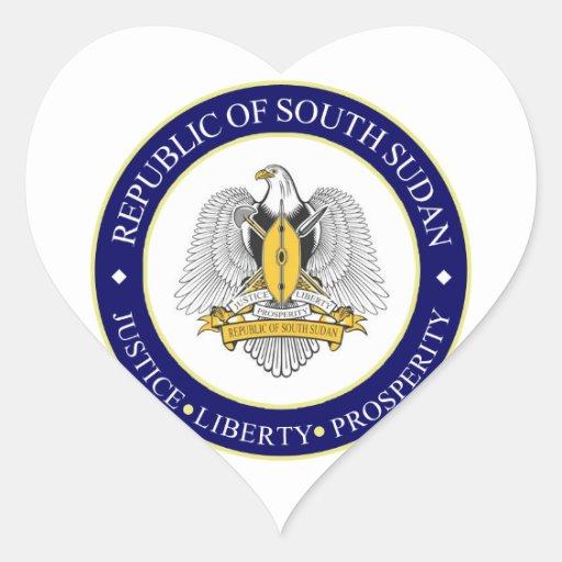 south sudan emblem heart stickers