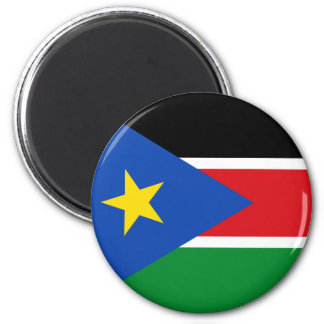 south sudan flag 2 inch round magnet