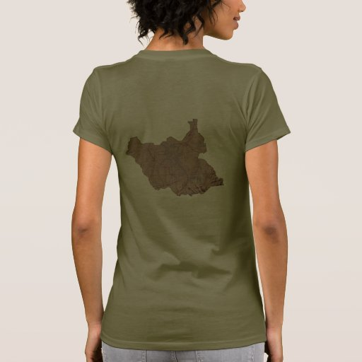 South Sudan Flag and Map dk T-Shirt Tees