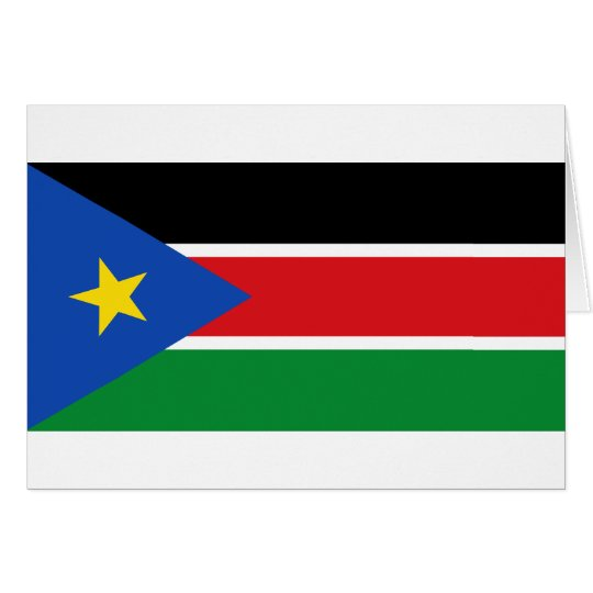 south sudan flag card