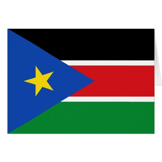 south sudan flag card