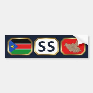 South Sudan Flag Map Code Bumper Sticker