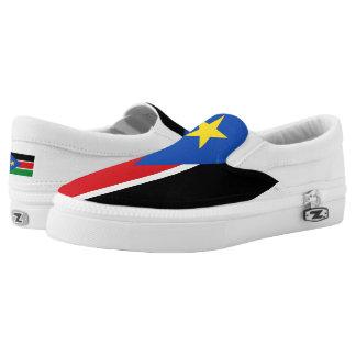 South Sudan Flag -.png Slip-On Sneakers