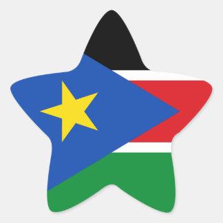 south sudan flag star sticker