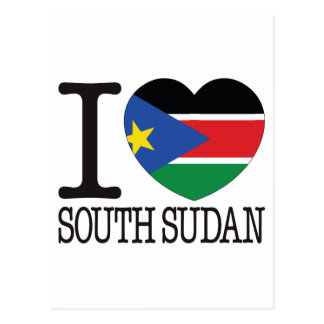 South Sudan Love v2 Postcard