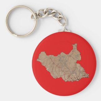 South Sudan Map Keychain