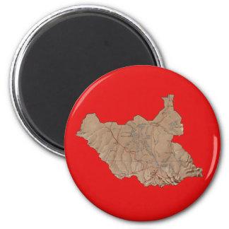 South Sudan Map Magnet