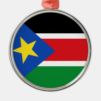 South Sudan Metal Ornament