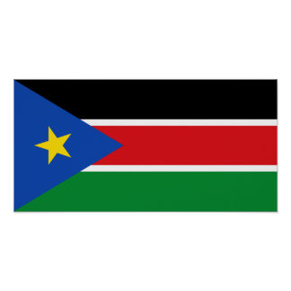 South Sudan National Flag Poster