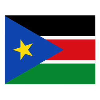 South Sudan National World Flag Postcard