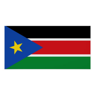 South Sudan National World Flag Poster