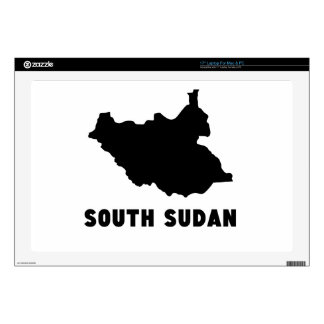 """South Sudan Silhouette Decal For 17"""" Laptop"""