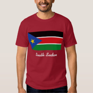 south sudan text t-shirt