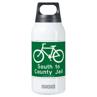 South to Country Jail, Traffic Sign, Chicago, USA Insulated Water Bottle