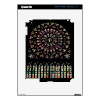 South transept rose window depicting Christ in the iPad 3 Decal