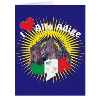 South Tyrol - Alto Adige - Italy greeting map Card