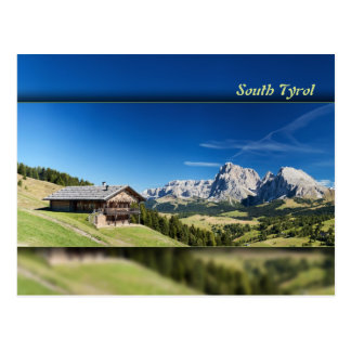 South Tyrol mountain panorama Postcard