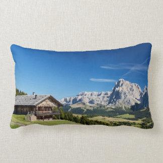 South Tyrol mountain panorama Throw Pillow