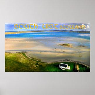south uist scotland poster