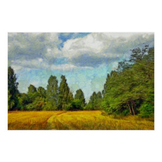 South Ural. Road in a field Poster