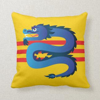 South Vietnam Dragon Throw Pillow
