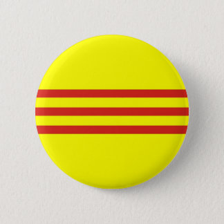 south vietnam ethnic flag pinback button