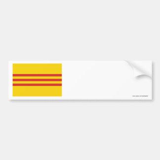 South Vietnam Flag Car Bumper Sticker