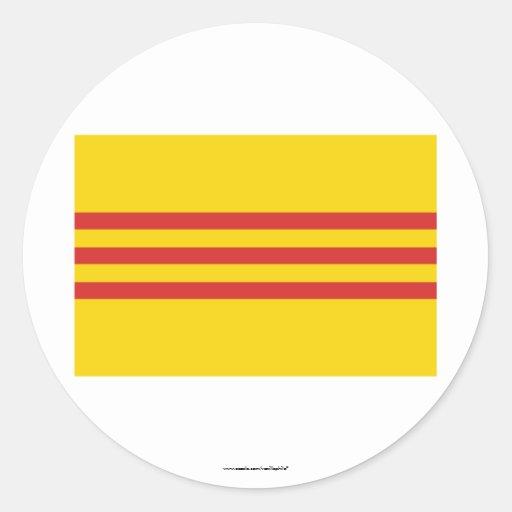 South Vietnam Flag Classic Round Sticker