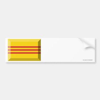 South VietNam Flag Jewel Car Bumper Sticker