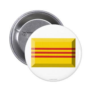 South VietNam Flag Jewel Pinback Buttons