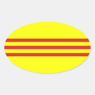 South Vietnam* Flag Oval Sticker