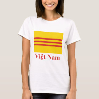 South Vietnam Flag with Name in Vietnamese T-Shirt