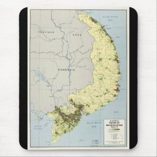 South Vietnam Map September 1972 Mouse Pad