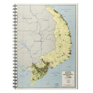 South Vietnam Map September 1972 Notebook