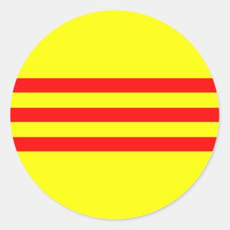 South Vietnam, Vietnam Round Sticker
