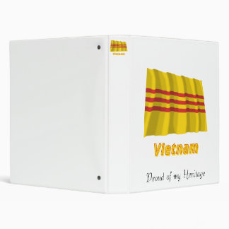 South Vietnam Waving Flag with Name Binder