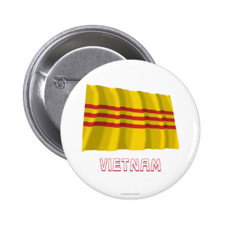 South Vietnam Waving Flag with Name Buttons
